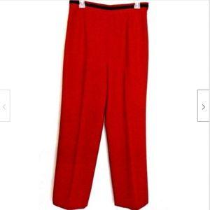 Carlisle NWt Pants Trouser Wool Red Stretch Sz 10